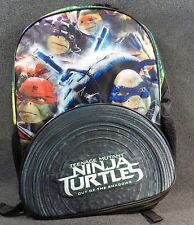 """Teenage Mutant Ninja Turtle Movie Neoprene Sewer Shell Boys Black 16"""" Backpack"""