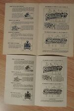 LIONEL INSTRUCTION SHEETs - COPIES of Your Choice