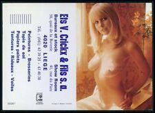 k art Calendar Pinup nude woman Pin Up European original 1960-1980 postcard size