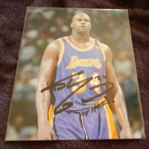 """SHAQUILLE O'NEAL """"SHAQ"""" LAKERS  AUTO SIGNED AUTO 8X10 COLOR PHOTO"""