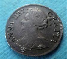 More details for genuine 1711 queen anne silver sixpence very good detail