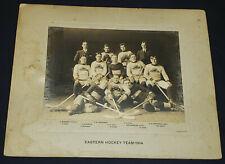 "1914 - ""EASTERN"" HOCKEY TEAM - LARGE - CABINET - PHOTO - ORIGINAL"