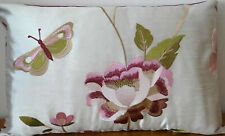 """Voyage Maison, embroidered silk cushion cover  19 x 12"""""""