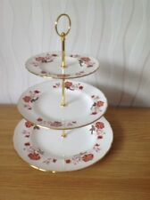 ROYAL CROWN DERBY 'Bali' 3 Tier Cake Stand, Excellent Condition c1980s