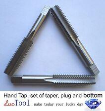 "7/16""-14 Hand Tap Set--taper, plug, bottoming, ANSI, HSS, brand new, 7/16 tap"