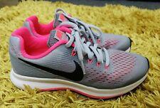 EUC Older Girls Nike Zoom Pegasus 34 Running Shoes size 3 EU 35.5 grey / pink