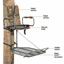 """Deluxe """"Hang-On"""" Hunting Tree Stand In Camo - Game / Deer Hunter Stands"""