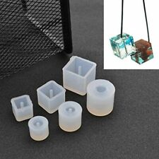 6Pcs Round Square Silicone Mold Mould Casting Resin for Jewelry Pendant Ban