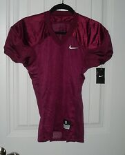 New Boys Youth Nike Authentic Maroon Fitted Football Jersey - Size Large