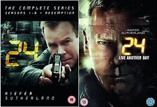 24 SERIES 1-9 COMPLETE COLLECTION 1 2 3 4 5 6 7 8 9 LIVE ANOTHER DAY NEW UK DVD