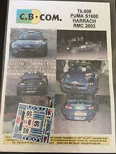 DECALS 1/43 FORD PUMA S1600 HARRACH RALLYE MONTE CARLO 2003 RALLY WRC