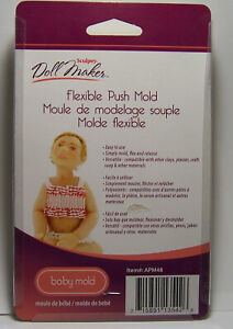 Sculpey Doll Maker Flexible Push Mold Baby Design - Simply mold clay and more!