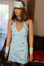 Classified Sexy Air Hostess Miss Mile High Outfit Costume Fancy Dress Size Small