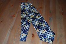 pfiffige Herren-Krawatte mit Teddy-Motiv, Seide, blau-kariert