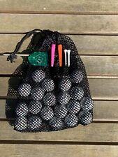 Golf Practice Pack - 20 Balls + Tees + Line Marker + Net Mesh Bag