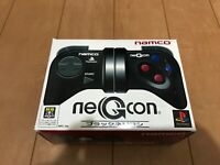PS1 NEGCON BLACK Controller with BOX and Manual NAMCO PlayStation
