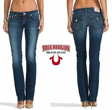 NWT$198 TRUE RELIGION BILLY LOW RISE STRAIGHT LEG DEL MAR JEAN. MADE IN USA.SZ24