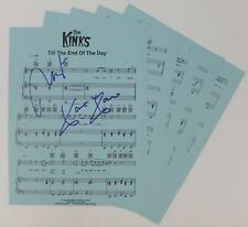 "Ray Davies & Dave Davies THE KINKS Signed ""Till The End Of The Day"" Sheet Music"