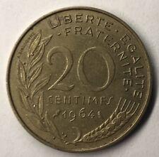 F.156 Monnaie Française 20 Centimes Marianne 1964 Achat Unitaire
