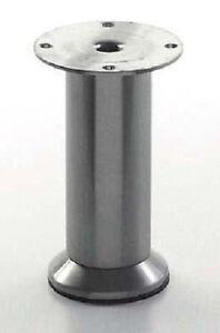 Piede Mobile Piedino Metallo Altezza Regolabile 100mm-120mm Acciaio Inox -