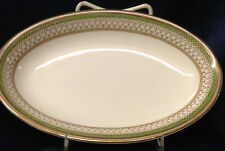 "MEAKIN J&G SOL WESTMINSTER GREEN BAND OVAL RELISH DISH 8 1/2"" ENGLAND"