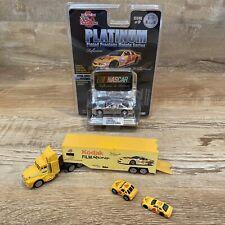 KODAK LOT Racing Champions Truck Trailer, 2 Micro Cars & NIP Nascar Reflections