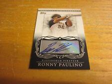 Ronny Paulino 2007 Topps Moments and Milestones Milestone Autographs #RP Card