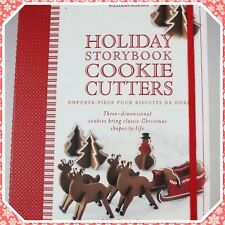 Williams Sonoma Holiday Storybook 3-D Cookie Cutters - Box Of Eight (8) Cutters