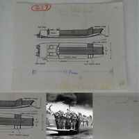Rare WWII 1942 Classified British D-Day Landing Craft LCA Blueprint Lot Relic
