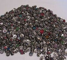 12mm Petite Button Snaps Charms - 10pc Mix Snap Lot - At Wholesale - Fits Ginger