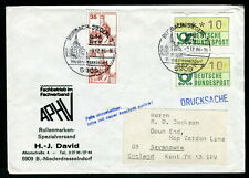 1986 Germany Machine stamps used on cover