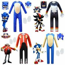 Kids Sonic Cosplay Costume The Hedgehog Jumpsuit Party Fancy Performance Dress