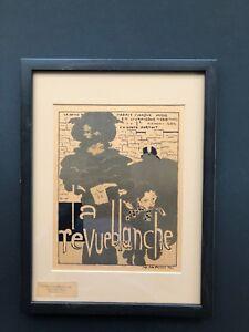 PIERRE BONNARD - LA REVUE BLANCHE 1894 - VINTAGE FRAMED LITHOGRAPH