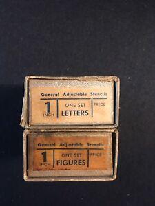 """Vintage 1"""" Brass Interlocking Stencil Set  48 pc. Set"""