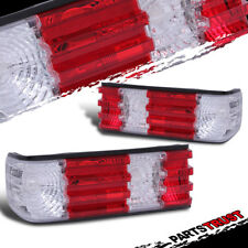1981-1991 Mercedes Benz W126 S-Class 2/4DR Coupe Sedan Red Clear Tail Lights Set