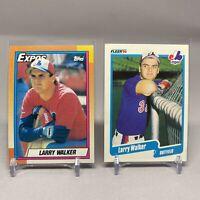 MLB Expos 1990 Larry Walker Rookie Card Set - Topps #757 & Fleer #363