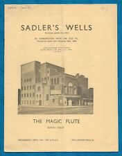 "1937 PROGRAMME SADLER'S WELLS OPERA COMPANY ""THE MAGIC FLUTE"""