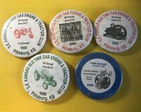S. E. Kansas Old Time Gas Engine & Tractor Club Collector Pins Lot 5