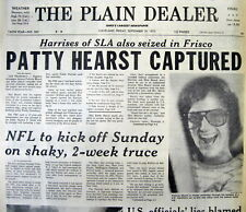 <3 1975 newspapers HEIRESS PATTY HEARST CAPTURED BY FBI Guilty of Robbery TRIAL