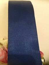 NAVY BLUE Wedding Car Ribbon 50 MM Wide X 10 Mtr  Wide. FLAT PACKED FREE POST