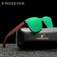 Kingseven Natural Wooden Sunglasses Men Polarized Fashion Sun Glasses Original