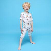 "Candy-baby pjs Toddler Kids boys Clothes 2-Piece Pajamas ""hero"" 12M-9T"