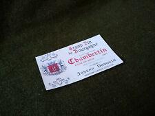 Chambertin wine label 1941 Rations Wehrmacht Verpflegung