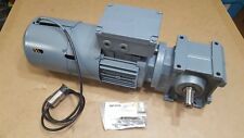 SEW Eurodrive Helical Worm Gearmotor with Brake 1700/67RPM .37kW 277/480VAC NOS
