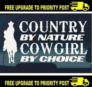 Horse Float Car Ute 4x4 cowgirl country pony riding horses DECAL Sticker