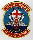 """Lightning Dustoff"" ""C"" Company 3 - 25 Aviation Hawaii patch"