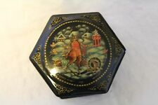 Russian Lacquer Box 6 Sided