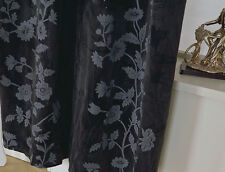 One Piece of Black Embossing Velvet Curtain 140cmX260cm Drop.