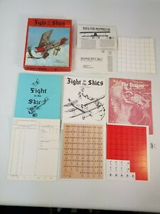 Fight in the Skies Board Game Vintage Strategy RPG Complete New Unpunched TSR