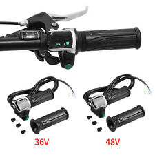 36V 48V Electric Bike EBike Throttle Grips Handlebar With LCD Display Meter SG